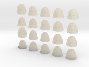 20 28mm Custom Shoulder Pad Cross in White Acrylic