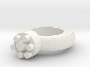 Thin Walls Fixed  Ring 20x20mm More Printable  in White Natural Versatile Plastic