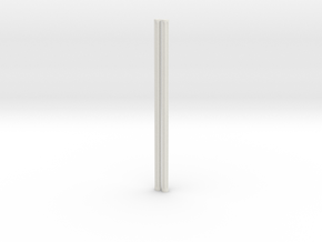 4mm Fluted Rod 99mm long X2 in White Natural Versatile Plastic