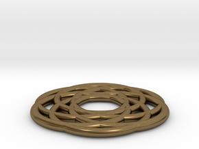 Dreamcatcher Pendant in Natural Bronze