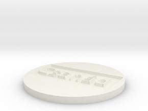 by kelecrea, engraved: Csanád in White Natural Versatile Plastic