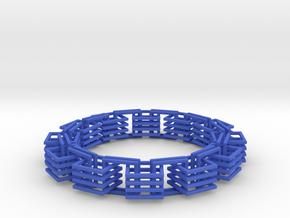 Square Links Chain in Blue Processed Versatile Plastic