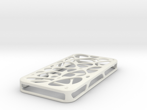 iPhone 4 / 4s case - Cell 2 in White Natural Versatile Plastic