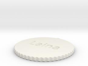 by kelecrea, engraved:   Laina in White Natural Versatile Plastic