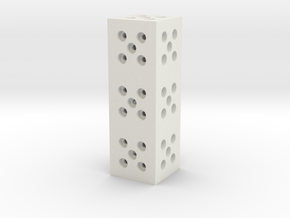 Building Block 1x3 in White Natural Versatile Plastic