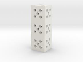 Building Block 1x3 in White Natural Versatile Plastic