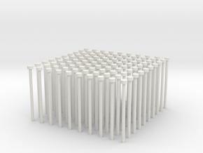 Building Block Pipes (x100) in White Natural Versatile Plastic
