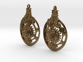 Botanika Mechanicum Earrings in Raw Bronze