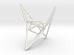SzilassiPolyhedronstickmodel in White Strong & Flexible