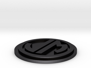 JM Badge Colored 44mm in Polished and Bronzed Black Steel