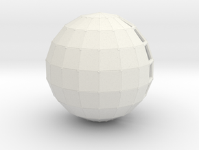globeHalfSolid in White Natural Versatile Plastic