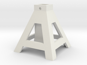 axlestand base1 8 in White Natural Versatile Plastic