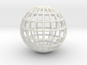 globeWireframe in White Natural Versatile Plastic