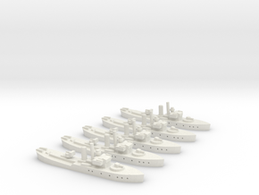 HMS Buttercup (Flower class) 1/1800 x5 in White Natural Versatile Plastic