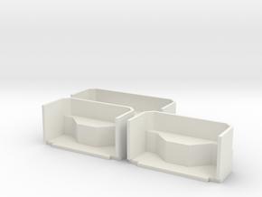 Türschächte T6A2 in 1:22,5 / IIm in White Natural Versatile Plastic