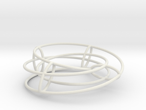 Elliptical Inside-Out | Bracelet | 4x2 Circle in White Natural Versatile Plastic