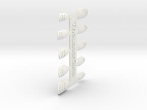 Chevron Nails (Size 2) in White Strong & Flexible