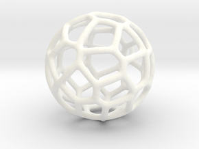 Organic Sphere Pendant in White Strong & Flexible Polished