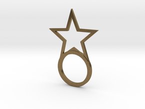 Ring With Star size 9 in Natural Bronze