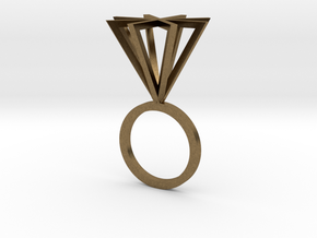 Ring With Pyramid size 9 in Natural Bronze