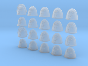 Stag - 20, 28mm Shoulder Pads in Smooth Fine Detail Plastic