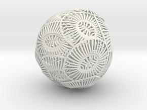 Emiliania Huxleyi Coccolithophore in White Strong & Flexible