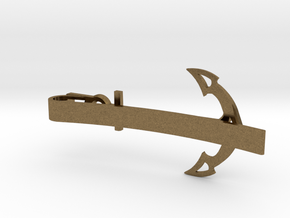 Anchor Tie Clip in Natural Bronze