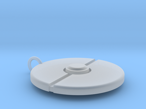 Pokeball Pendant in Smooth Fine Detail Plastic