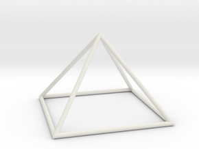 square pyramid 70mm in White Natural Versatile Plastic