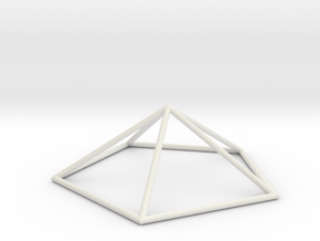 pentagonal pyramid 70mm in White Strong & Flexible