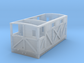 NSR 10ton Brake Van body double window - 4mm scale in Smooth Fine Detail Plastic
