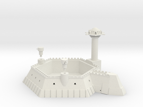 6 Sided Martian Villa With Towers in White Strong & Flexible