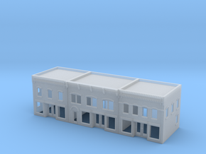 Three City Buildings in Smooth Fine Detail Plastic