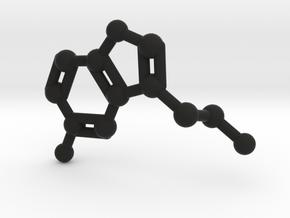 Serotonin Molecule Keychain Necklace in Black Strong & Flexible