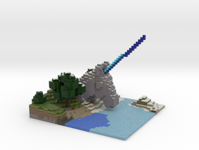 The Unicorn Shrine in Full Color Sandstone