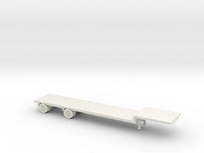 1:160/N-Scale Flatbed Trailer in White Strong & Flexible