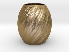 Vase Seven in Polished Gold Steel