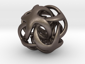 Octa Digisol - 22mm in Polished Bronzed Silver Steel