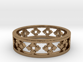My Awesome Ring Design Ring Size 6 in Natural Brass