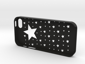 Iphone5,5S Star case,cover in Black Strong & Flexible