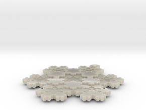 Koch Snowflake - 1 in White Acrylic