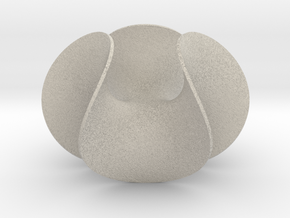 Enneper Minimal Surface Vase in Natural Sandstone