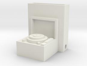 Record Player Iphone Speaker  in White Natural Versatile Plastic