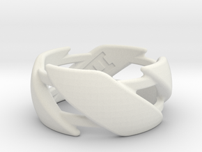 US10 Ring III in White Natural Versatile Plastic