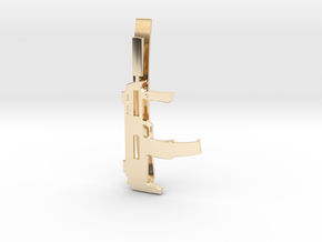 MP7 MONEY/TIE CLIP in 14K Yellow Gold