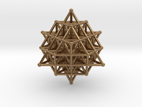 64 Tetrahedron Grid 45mm in Natural Brass