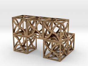 Twirl cubed puzzle part #3 in Natural Brass