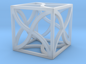 "Cube ""Twirl"" 1""x1""x1"" in Smooth Fine Detail Plastic"