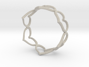 Hearts Bracelet 4inch in Natural Sandstone