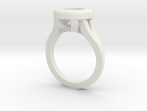 Cushion Ring Web in White Natural Versatile Plastic